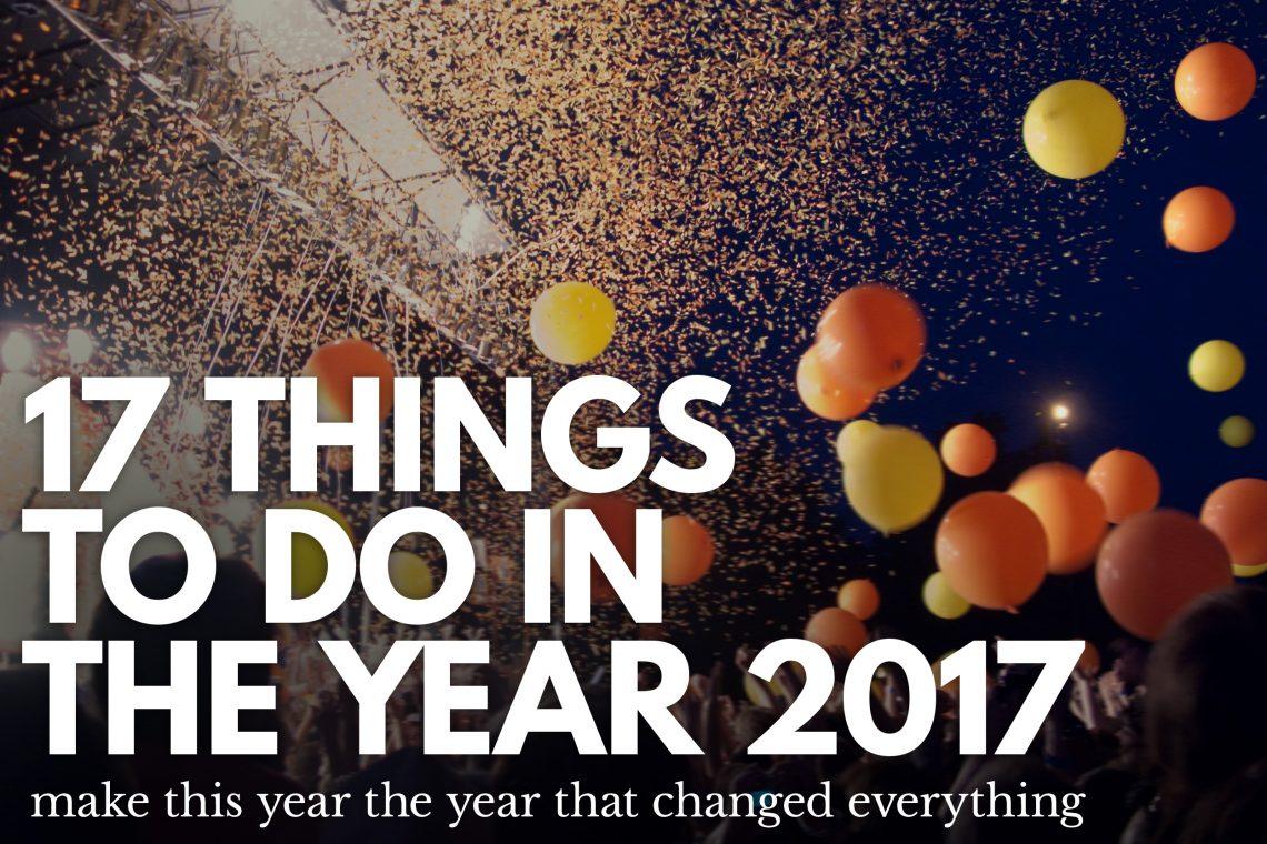 17 ways in 2017