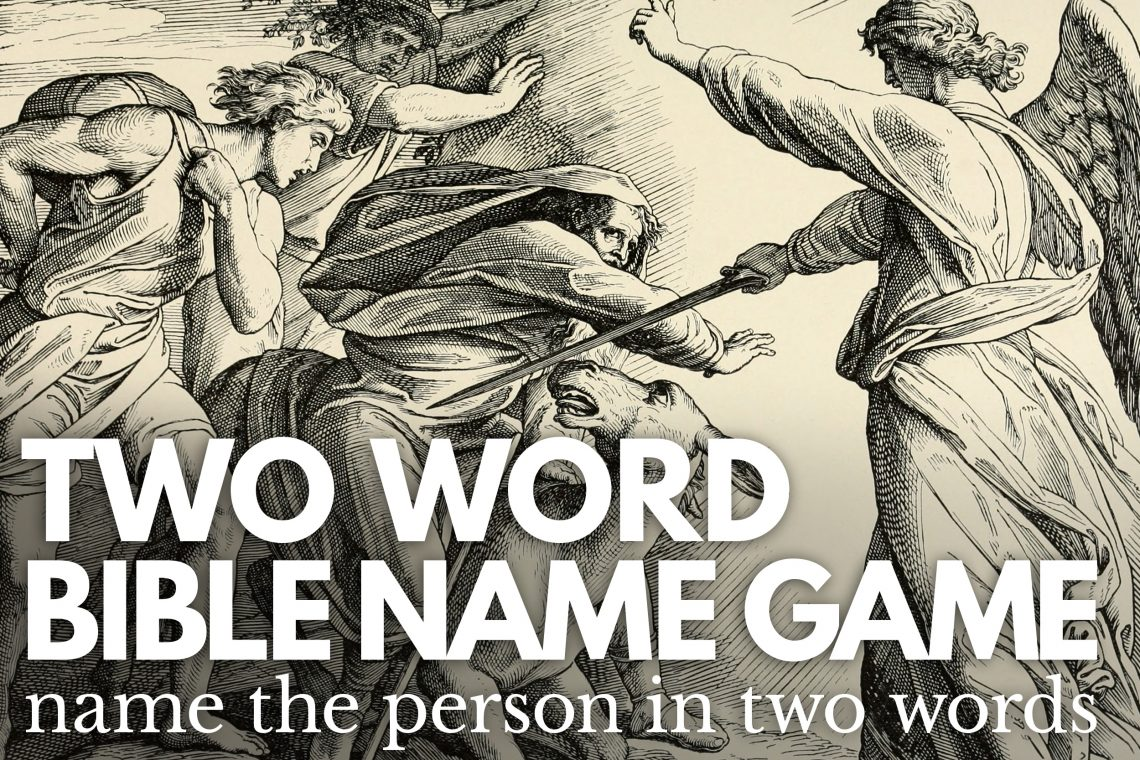 2 Word Bible Name Game