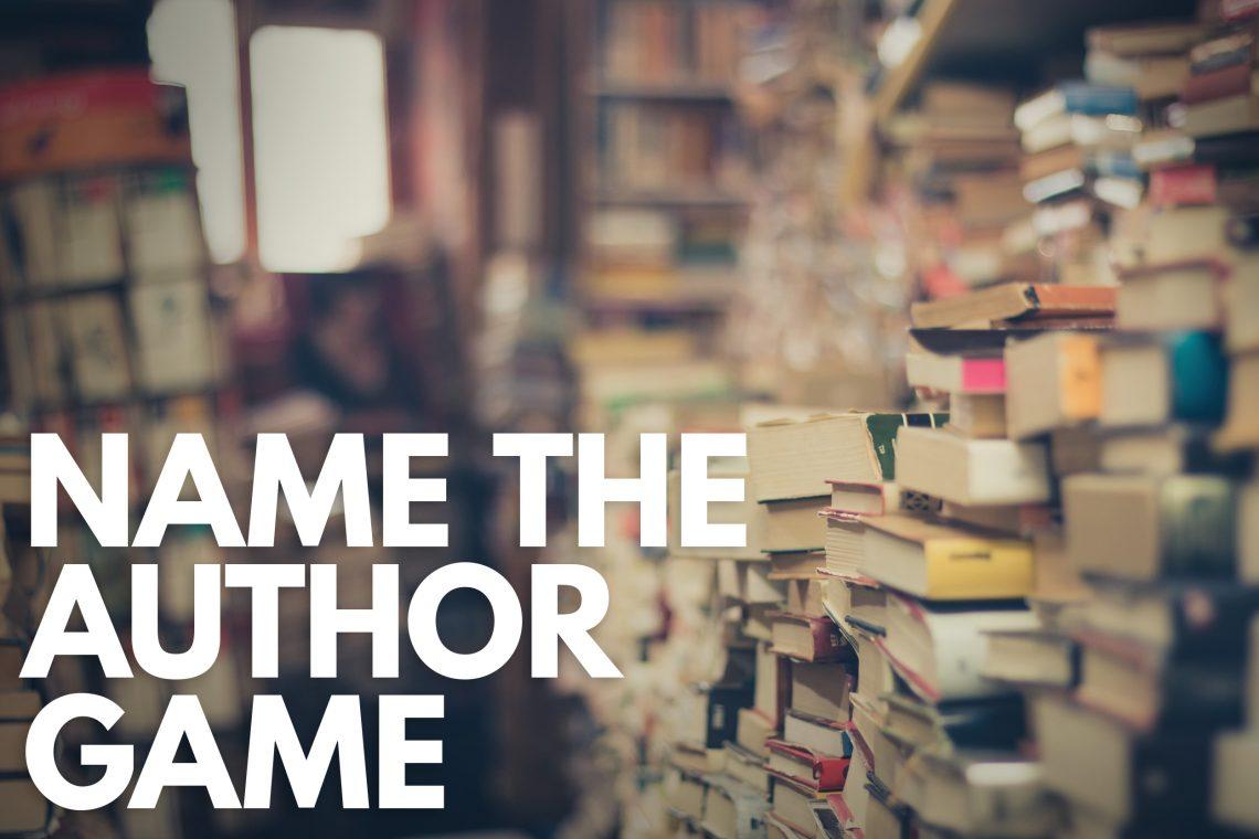 Author Name Game